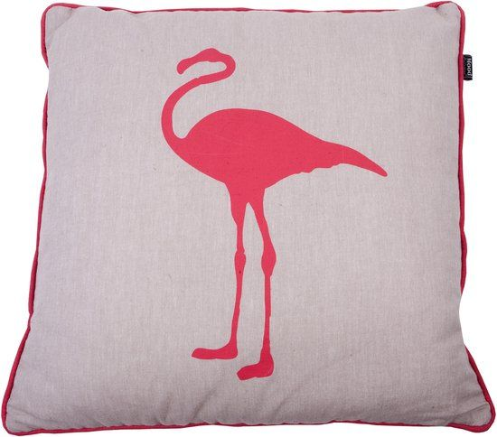 In The Mood Melange Flamingo - Sierkussen - Koraal - 50x50 cm