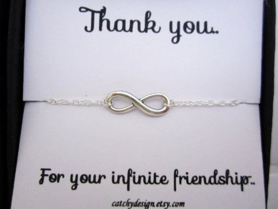 Best friend giftBFFInfinity bracelet with by catchydesign on Etsy, $17.99