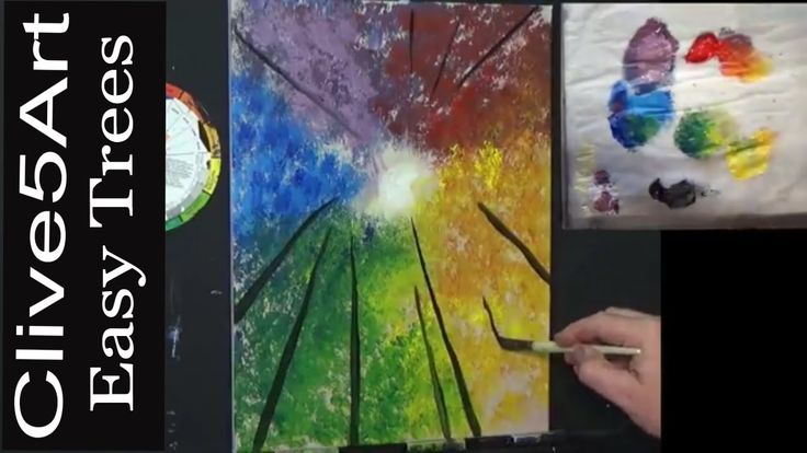 How to paint a tree in Acrylic lesson Acrylic painting for beginners,