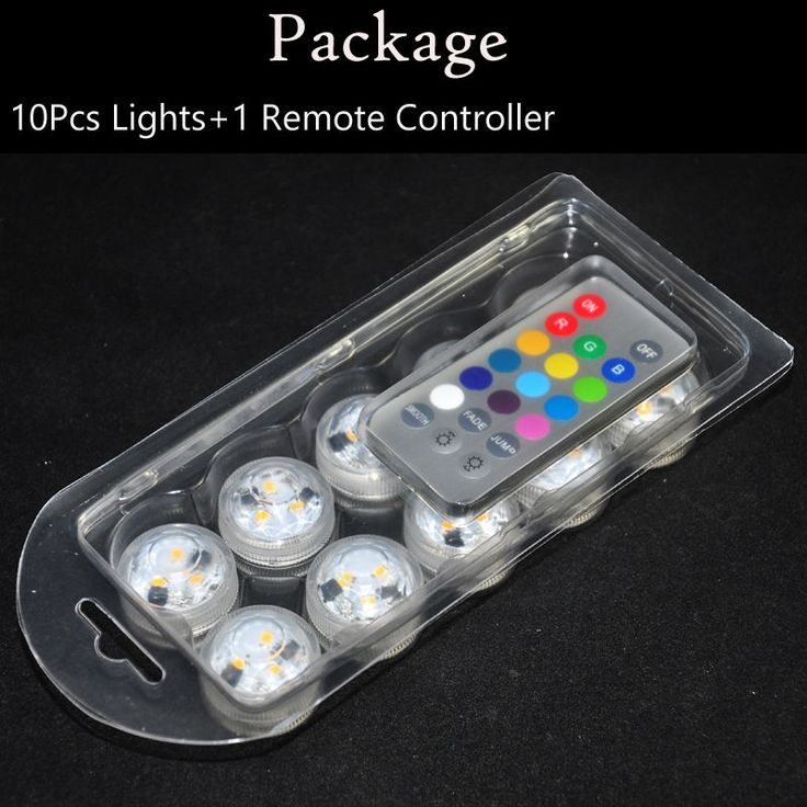 100pcs/Lot Fashion Wedding Decoration Remote Control Waterproof Submersible LED Party Tea Mini Light With Battery #Affiliate