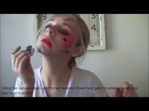Harey Quinn -margot robbie- makeup turtorial Suicide Squad
