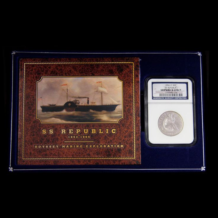 SS Republic Half Dollar. ound for New Orleans from New York with passengers and commercial cargo, the sidewheel steamship SS Republic was lost in a violent hurricane on October 25, 1865. Odyssey located the shipwreck in 2003 in the Atlantic Ocean. Displayed nicely in a presentation box with a certificate of authenticity and cd. Origin: Savannah, Georgia | Date: 1865 | Denomination: $0.50. See more at londoncoin.com