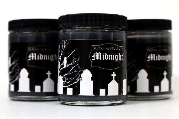 Mezzanotte di Halloween candele - cimitero - - candela nera