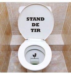 Sticker WC stand de tir | Fanastick.com