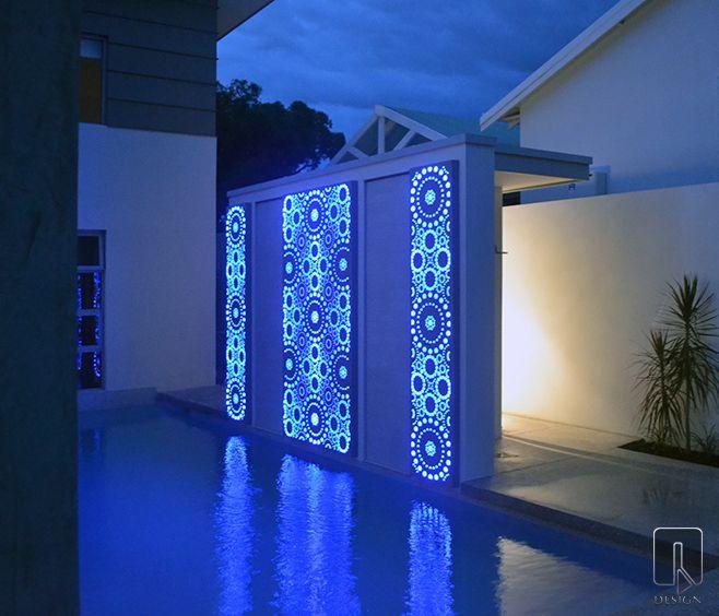 Aslyiam Laser Cut Light Feature   outdoor design   www.watergardenwarehouse.com.au   © Q Design