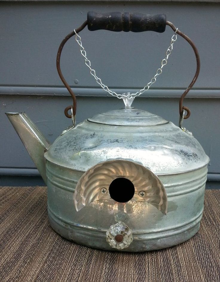 tea kettle bird house