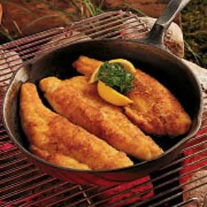"""Honey Walleye Recipe -Our state is known as the """"Land of 10,000 Lakes"""", so fishing is a favorite recreation here. This recipe is a quick way to prepare all the fresh walleye that's hooked by the anglers in our family."""