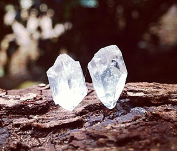 crystal studs.
