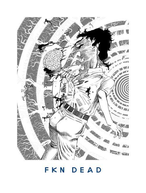 04 FKN DEAD  'You're Dead!' Flying Lotus artwork by Shintaro Kago