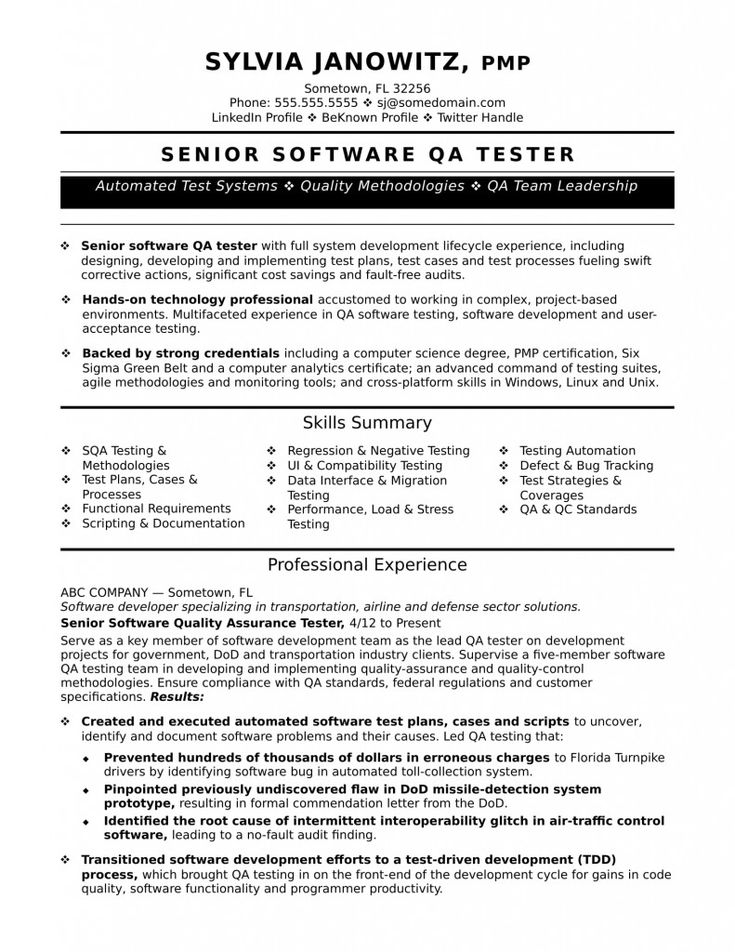 Qa Testing Resume 2021 Sample Resume Templates Job Resume Examples Job Resume Template