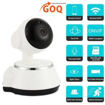 Special Price GOQ Q6 V380 IP CAM 720P HD Wifi IP Security Camera P2P Pan Tilt Wireless CCTV Night VisionOrder in good conditions GOQ Q6 V380 IP CAM 720P HD Wifi IP Security Camera P2P Pan Tilt Wireless CCTV Night Vision ADD TO CART GO945ELAABPBDJANMY-24661015 Cameras Security Cameras & Systems IP Security Cameras GOQ GOQ Q6 V380 IP CAM 720P HD Wifi IP Security Camera P2P Pan Tilt Wireless CCTV Night Vision