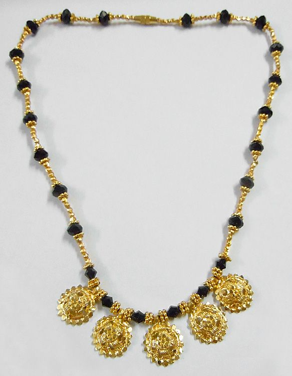 Gold Plated Mangalsutra ( Metal And Glass Beads))