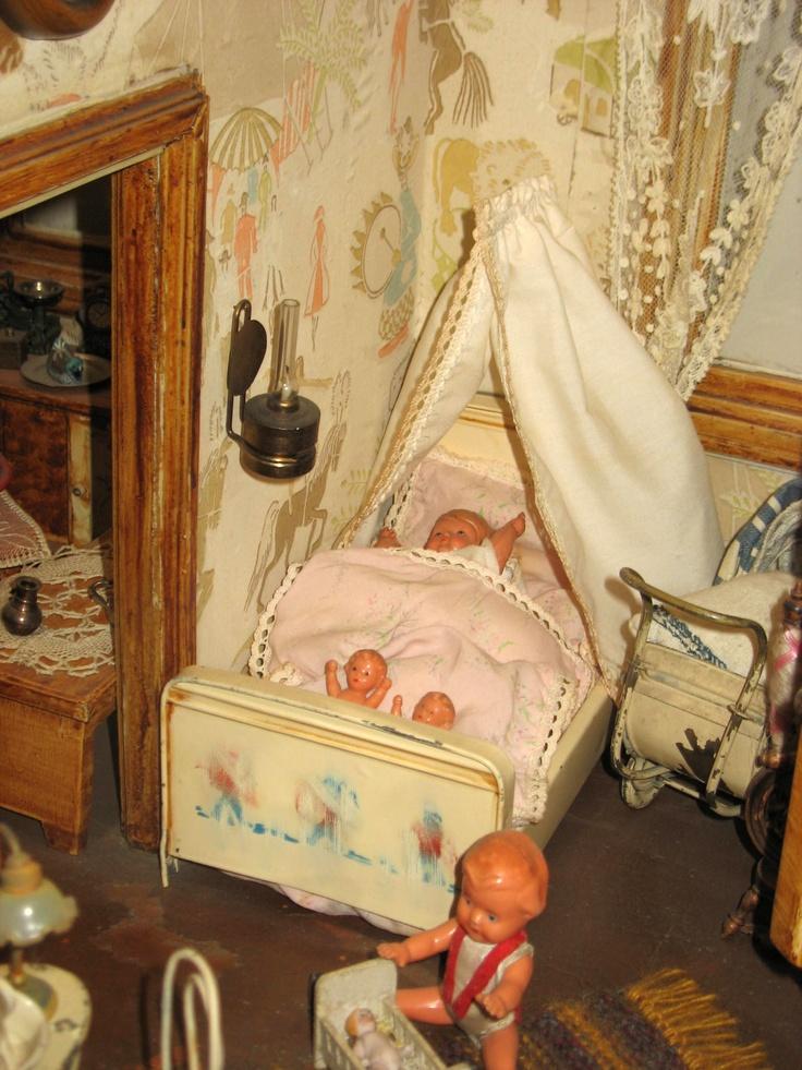 Fairy Furniture, Nursery Furniture, Nursery Room, Fairy Room, Miniature  Rooms, Miniature Furniture, Mosquito Net, Antique Dolls, Vintage Dolls
