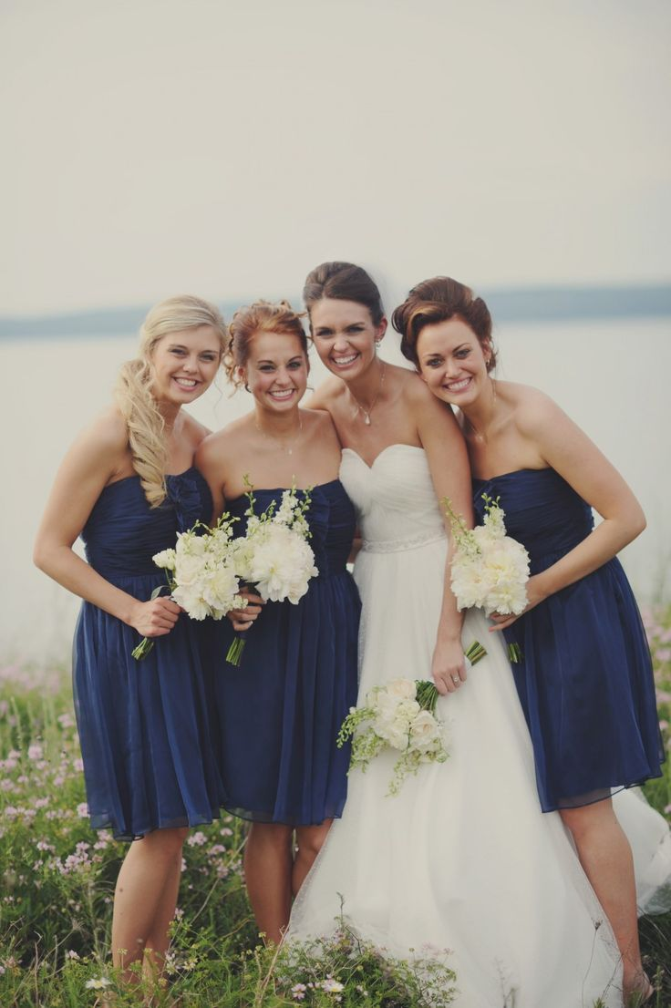 115 best blue bridesmaids images on pinterest blue bridesmaids navy blue bridesmaids dresses ombrellifo Choice Image