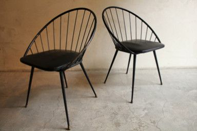 coppia sedie produzione francese anni '50 1