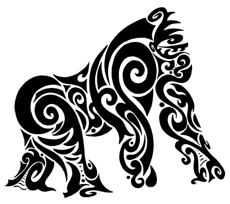 tribal gorilla tattoo - Google Search