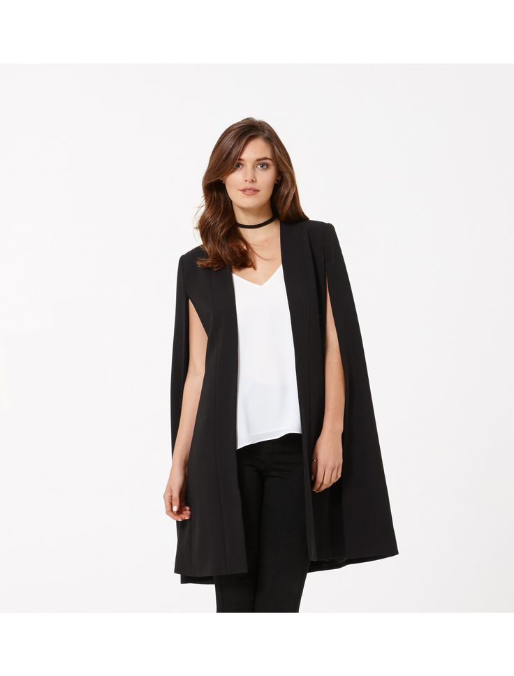 Layer up in style with our Morgan longline cape, perfect to add a little polish to any ensemble.
