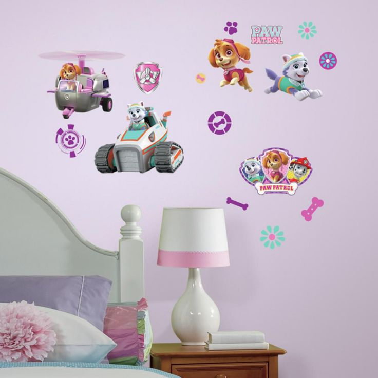RoomMates Paw Patrol Girl Pups Peel and Stick Wall Decals - RMK3124SCS