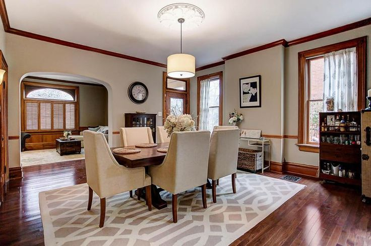 The fondest memories of home are made when gathered around the dining room table. [Listed by: Alanna Frole - Coldwell Banker King Thompson - $560,000] . . . . . . #home #memories #diningroom #table #beautiful #renovation #columbus #coldwellbankerkingthompson #realestate #realtor #realestate #realestatephotography