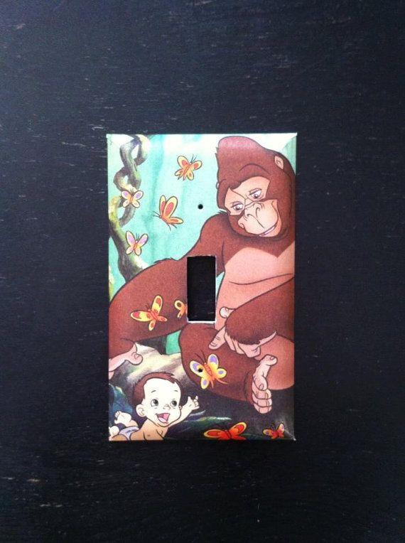 Kala and Baby Tarzan Light Switch Cover