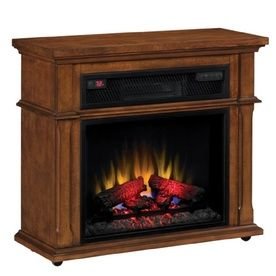Duraflame 33 In W Vintage Mahogany Wood Media Console