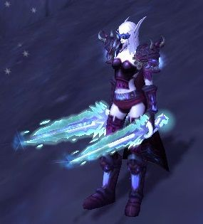*Purple Plate Xmog w/ Cosmetic Headpiece* **Head - Spectropic Detection Goggles **Shoulders - Ruthless Gladiator's Dread Plate Spaulders - **Cloak - Cloak of Crimson Snow **Chest - Revenant or Chestplate of A'dal **Hands - Ruthless Gladiator's Dread Plate Gauntlets **Waist - Ruthless Gladiator's Girdle of Accuracy **Legs - Revenant Leggings **Feet - Ruthless Gladiator's Warboots of Cruelty **Weapon - Hailstorm x2