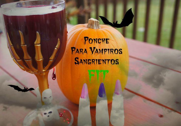 Ponche de vampiros a base de frutas para un halloween saludable