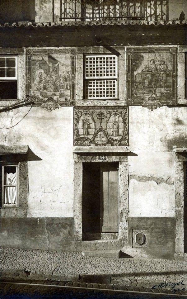 Registo de Santos na Rua das Amoreiras, 1944, foto