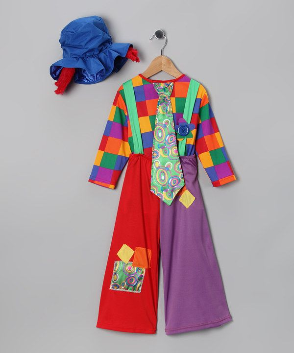 Look at this Dress Up America Red Colorful Clown Dress-Up Set - Toddler & Kids on #zulily today!