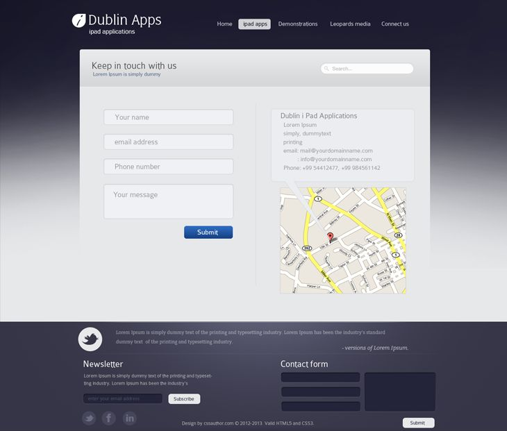 Dublin iPad Apps – Contact Page