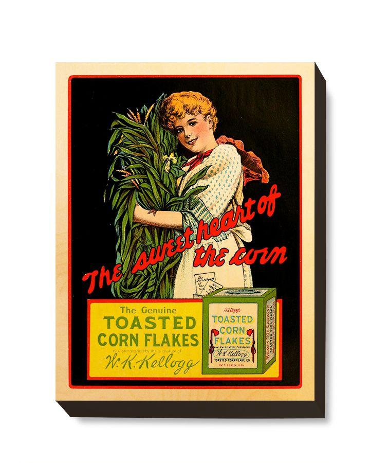 ADV 097 Advertising Art Toasted Corn Flakes