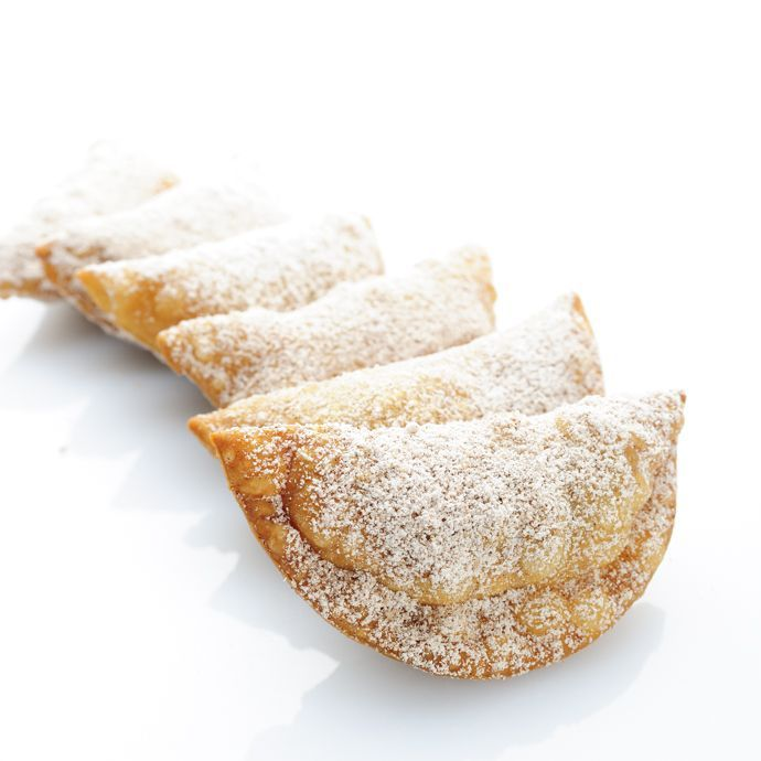 Azevias de Grão - Portuguese Christmas pastries with a sweet chickpea, cinnamon and lemon zest filling