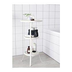 IKEA - GUNNERN, Säulentisch, weiß, , Dank der erhöhten Tischkante bleibt alles an Ort und Stelle.