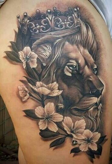 I do NOT like how dark this is, or even the lion. But the flower idea is kind of.. kind of.. what I'm going for