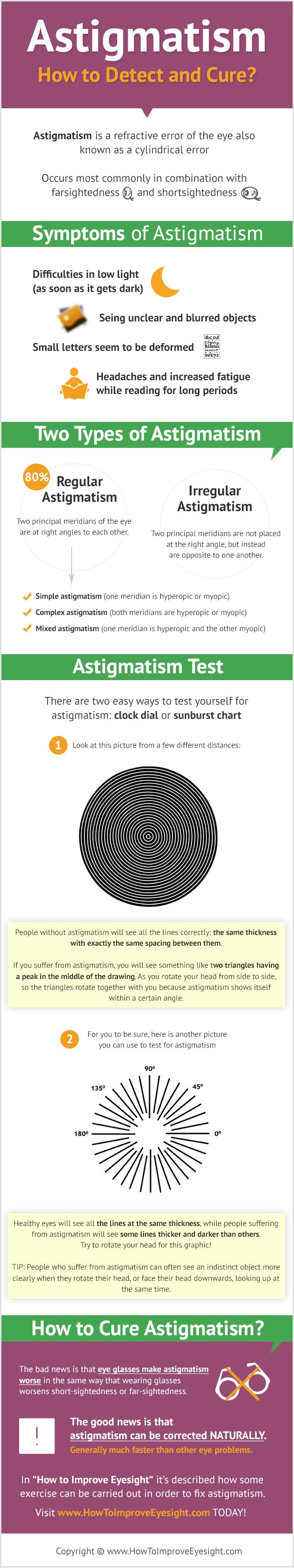 How to Detect and Cure Astigmatism #infographic #Astigmatism