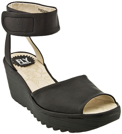 Fly London Yula Ankle Strap Wedge Sandal