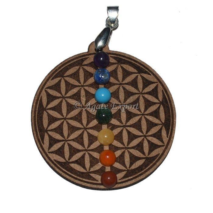 11 best chakra pendants chakra jewllery images on pinterest flower of life chakra pendant with 7 chakra stone mozeypictures Image collections