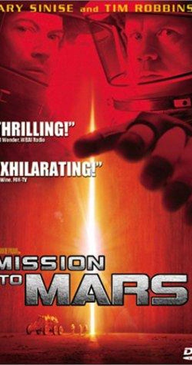 Directed by Brian De Palma.  With Tim Robbins, Gary Sinise, Don Cheadle, Connie Nielsen. When the first manned mission to Mars meets with a catastrophic and mysterious disaster after reporting a unidentified structure, a rescue mission is launched to investigate the tragedy and bring back any survivors.