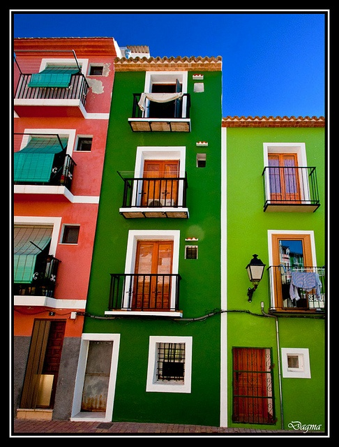 Typical houses of Villajoyosa...Alicante...Spain..! by dagmaf, via Flickr. Caco histórico