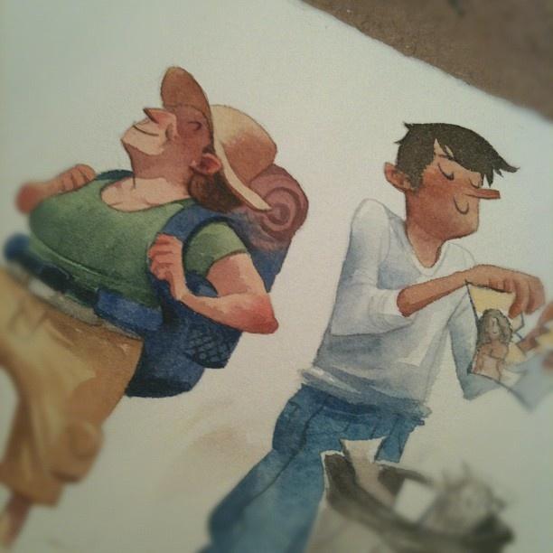 Julia Bax - watercolor cool!