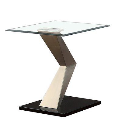 Look what I found on #zulily! Satin-Plated Zig-Zag Metal End Table #zulilyfinds