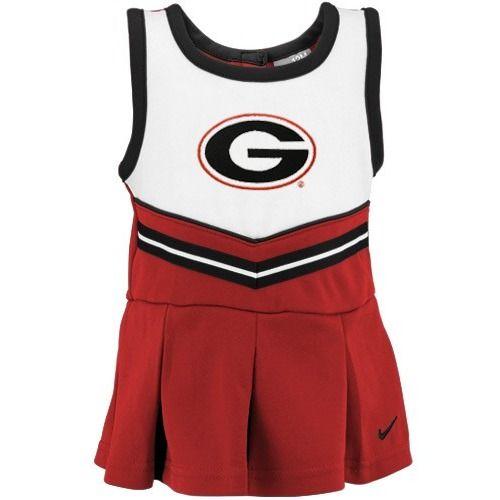 $33.95 Nike Georgia Bulldogs Infant Red Cheer Dress & Bloomers