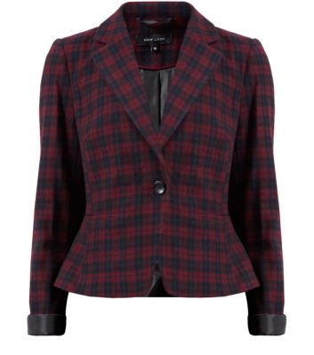 "Dress up a work-wear style with this red check blazer - wear over a black cami, black skinny jeans and red sling back heels.- All over check- Collared neck- Button front fastening- Short design- Turn up sleeves- Soft breathable fabric- Model is 5'8""/176cm and wears UK 10/EU 38/US 6"