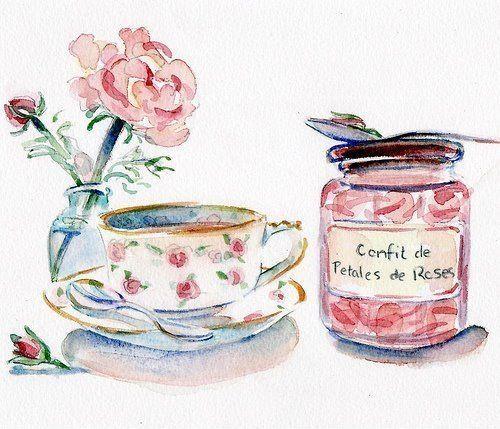 take time to paint. confit de petales de roses