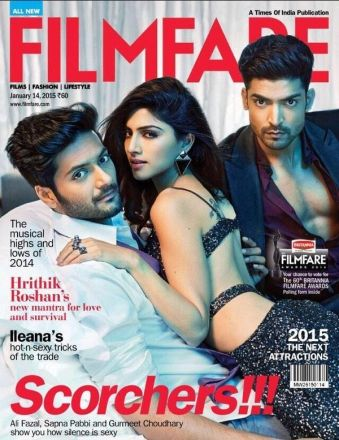 Ali Fazal, Sapna Pabbi and Gurmeet on the cover of Filmfare
