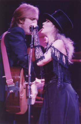 """Stevie Nicks and Tom Petty- """"Only you come knockin' on my front door..same ole' line you used to use before""""  I say """"Yeah, well what am I s'posed to do'."""