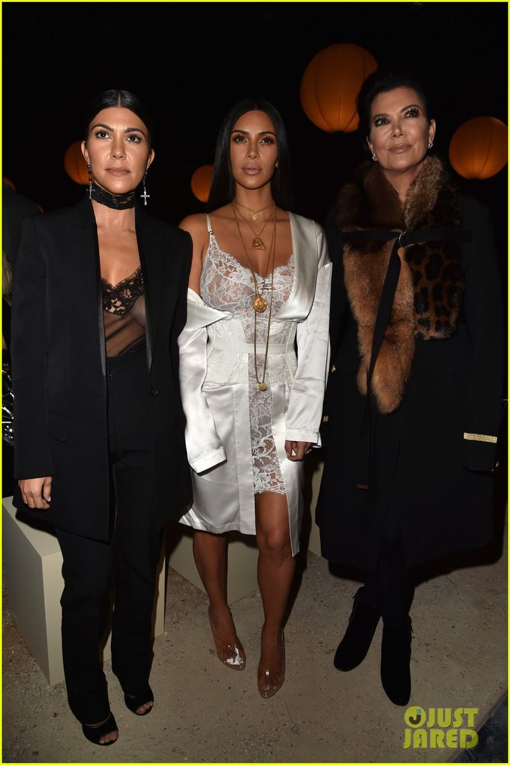 Kim & Kourtney Kardashian Support Sister Kendall Jenner at Givenchy Paris Show: Photo #3776034. Kim Kardashian looks sexy in white lace while attending the Givenchy show as part of Paris Fashion Week Womenswear Spring/Summer 2017 on Sunday (October 2) in Paris,…