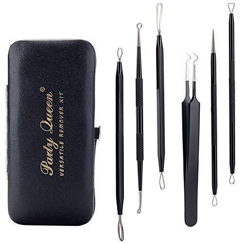 Party Queen Blackhead Remover Tool 6 Pcs Versatile Removal Kit Facial Extractor Treatment for Pimple Acne Comedone Blemish Whitehead Popping