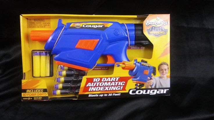 Buzz Bee Toys Air Warriors Cougar Foam 10 Dart Blaster Automatic Toy Gun #BuzzBee