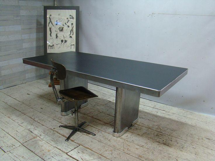 Ahrend Oda Art Deco industrial table